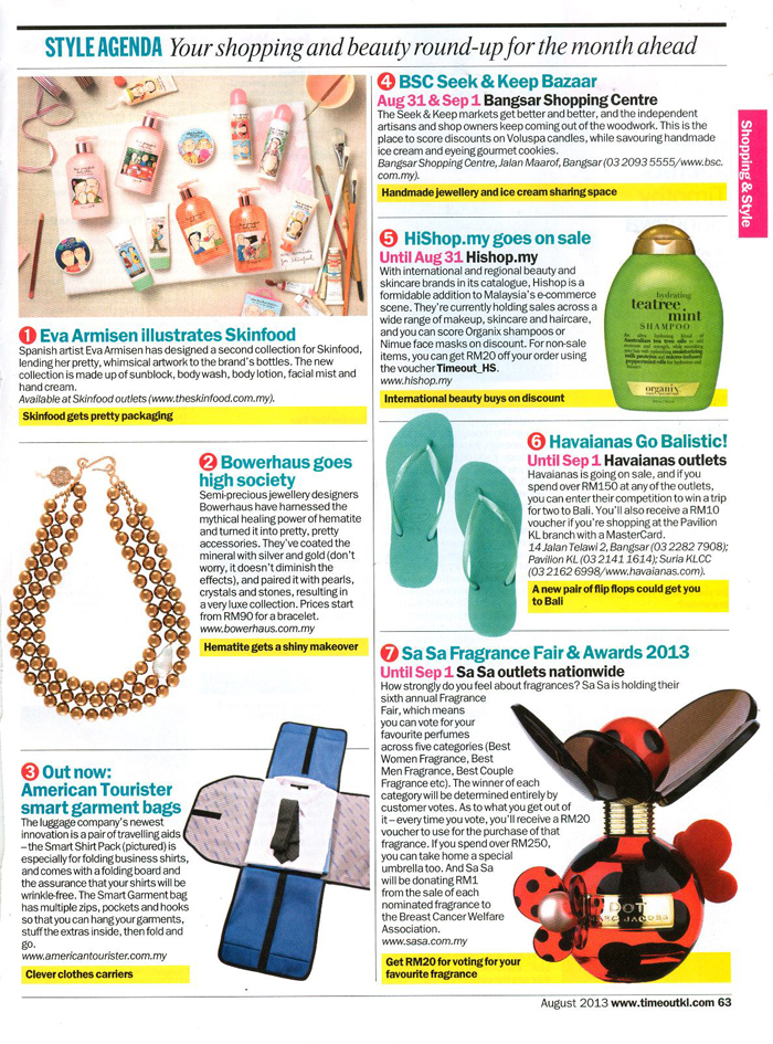 BOWERHAUS | Time Out KL – August 2013